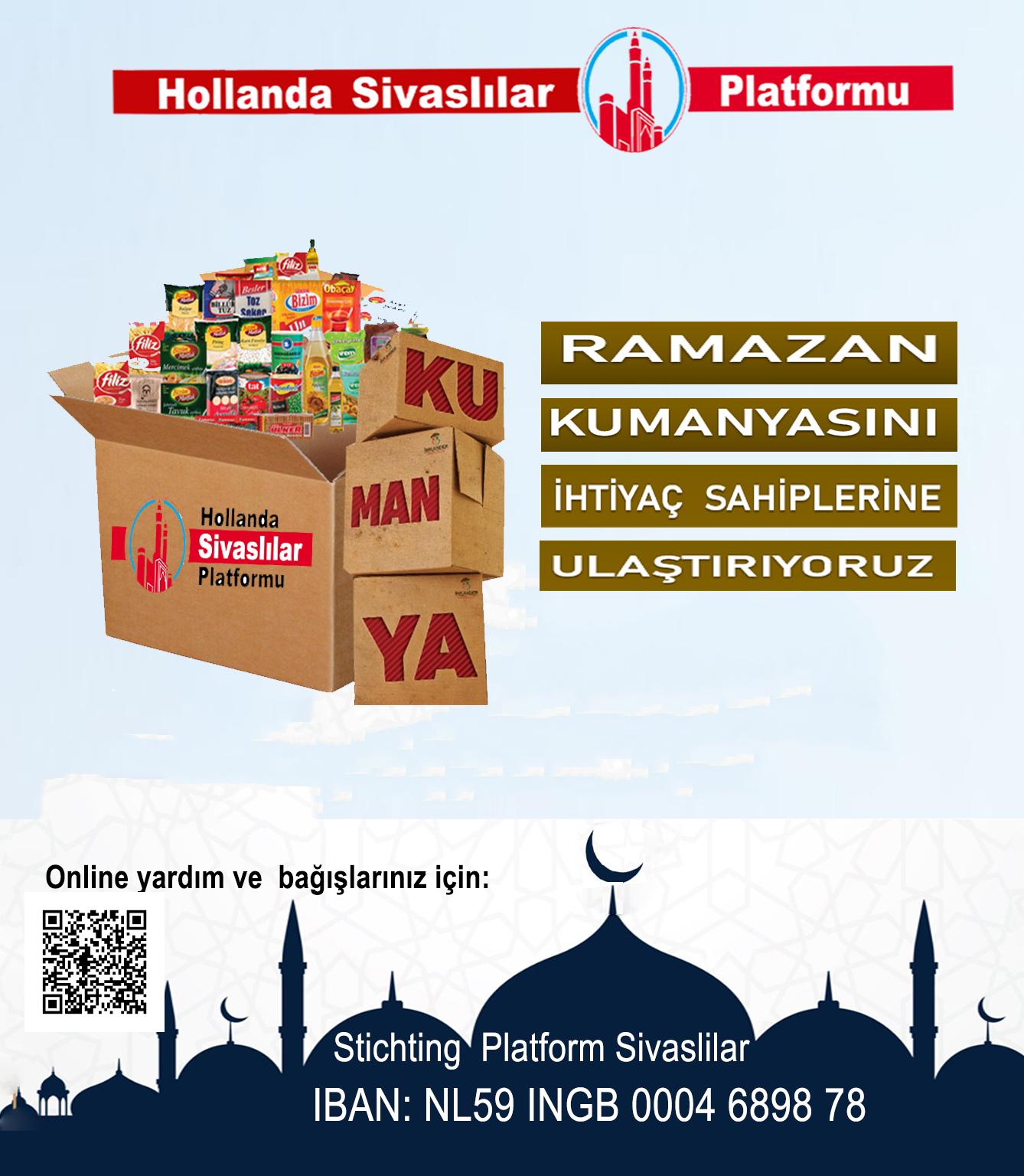 İhtiyaç Sahiplerine Ramazan kumanyası yardımı